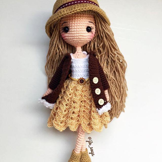 วันนี้เหนื่อยมากกก นอนกันเถอะเรา ร่างพัง #amigurumi #cute #girl #gift #jibsoya #crochet #handmade