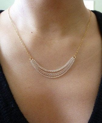 Layered Multi Chain Necklace-Two Tone Chain Necklace-Rocker Chain Necklace-Mix…