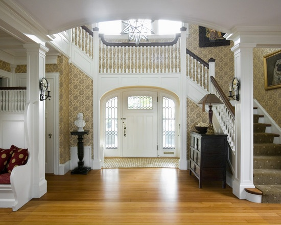 Jamie Foyers Traditional : Best images about entryway stairs on pinterest