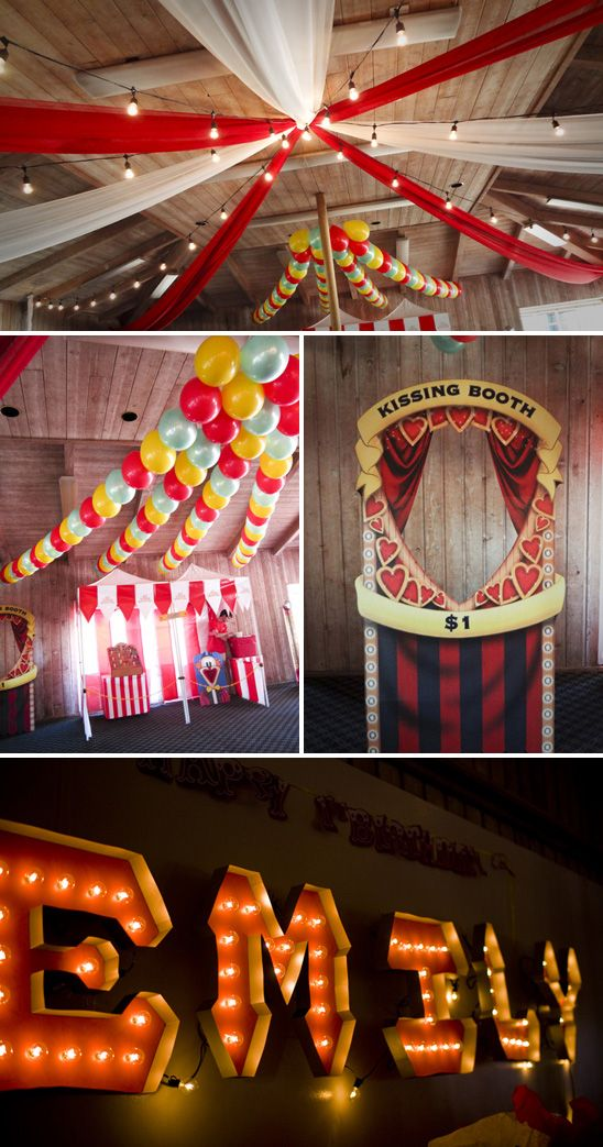 Emily's Vintage Circus Themed Birthday Party. This was not my party, but it would be awesome to throw this party.