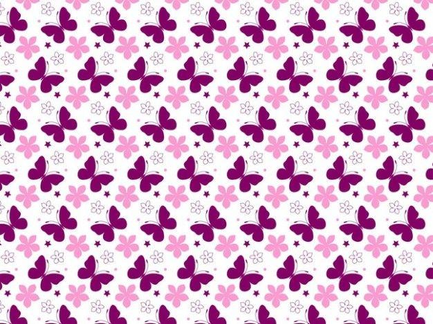 padrão borboleta e rosa