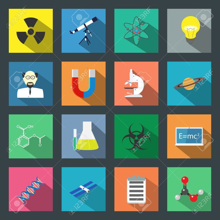 24392119-Science-flat-icons-set-vector-graphic-illustration-Stock-Photo.jpg (1300×1300)