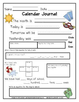 August - June Calendar Journals to keep students engaged during calendar time.Calendar Time, Student Engagement, Calendar Journals, Morning Work, June Calendar, 1St Grade Math Journal, Mornings Work, Work Ideas, Math Journals