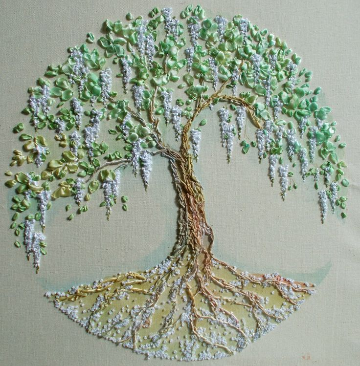 Best stitching trees leaves acorns images on