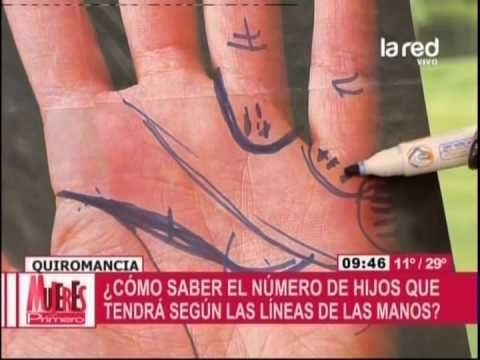 Bárbara Canale enseña a leer las líneas de las manos - YouTube