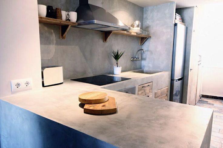 www.hormimpres.com #cocina de #cemento pulido #concrete #kitchen #decor