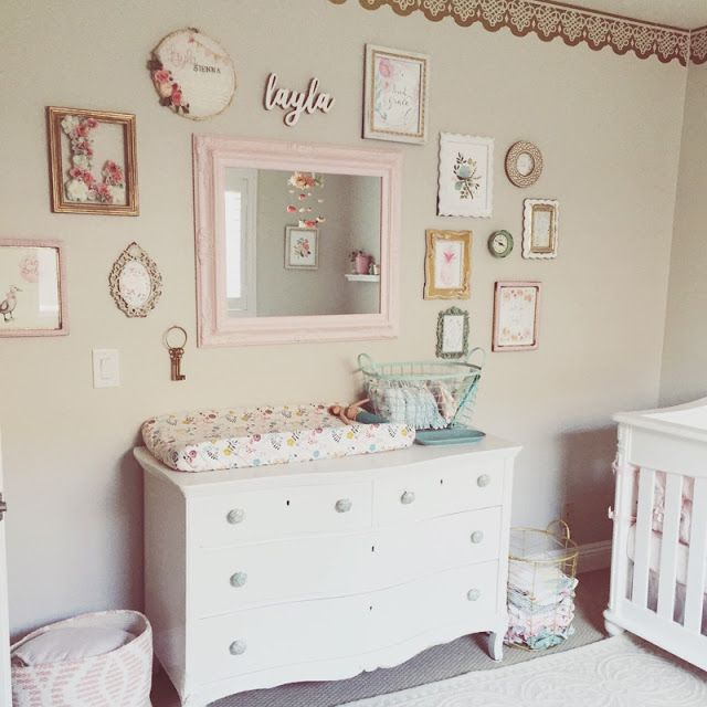 Baby Girl Nursery Tour: Nursery, Baby Girl Nursery, Blush And Gold Nursery, Flower