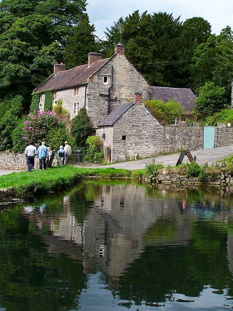 Tissington Village, Derbyshire. You can hire bikes here and do the Tissington Trail, a lovely way to spend the day.