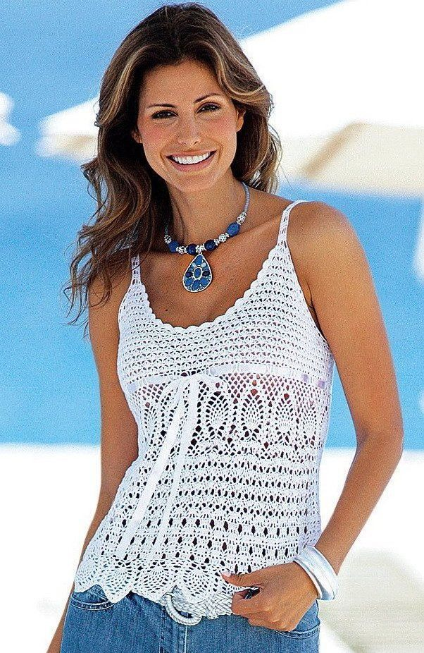 Gorgeous Free crochet pattern for ladies top - saw this on one of the girls in the office and it's FAB! Description from pinterest.com. I searched for this on bing.com/images