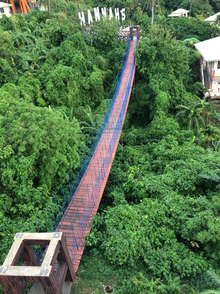 Hanging bridge in Hannah's Resort in Pagudpud, Ilocos Norte, Philippines #resort #philippines #travel #ilocosnorte
