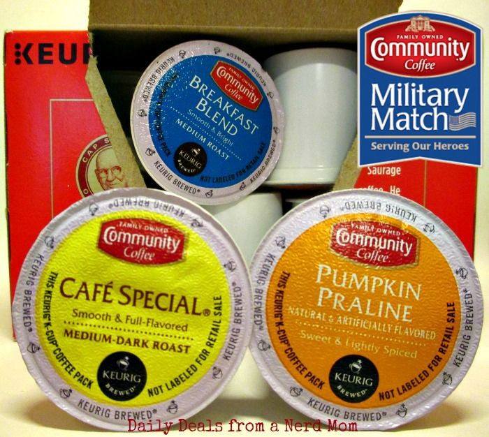 Community Coffee Company Military Match Program - The @communitycoffee Company helps support the military with their Military Match program. This program gives the men and women of the U.S. military a taste of home while serving away from home by doubling orders.