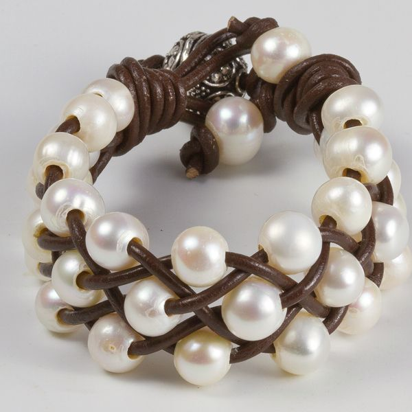 17 best ideas about leather pearl bracelet on pinterest leather - Bracelet Design Ideas