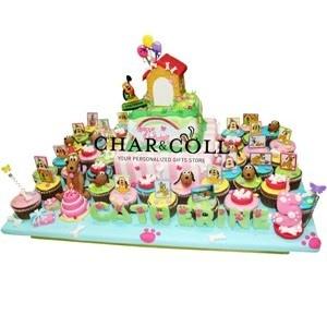 Pluto 2 Tier Square Birthday Cake