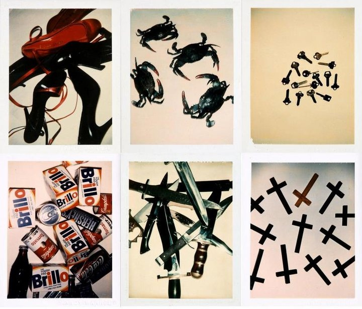 Polaroids of found objects. Studies for future work by Andy Warhol