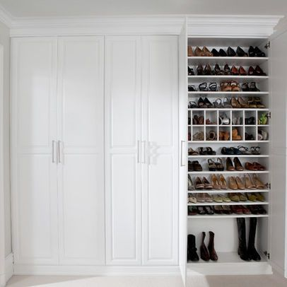 Love the shoe closet! http://www.houzz.com/photos/2011573/Dressing-Room-Shoe-Closet-traditional-clothes-and-shoes-organizers-new-york