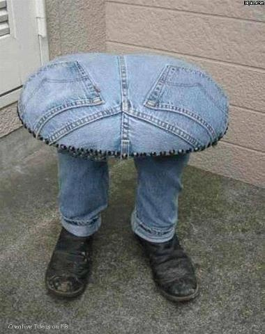 Jean-covered-stool ... imaginative!!!