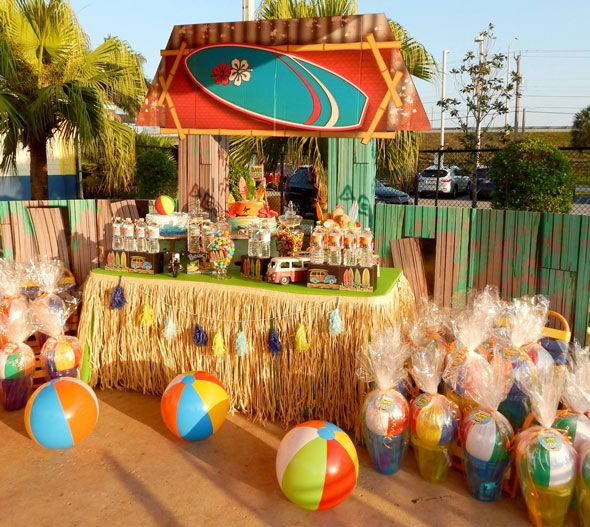 Beach bash birthday party birthdays beaches and movie party for Summer beach decor