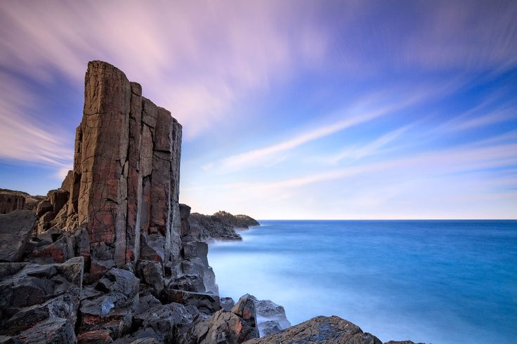 The Old Quarry at Bombo, NSW Australia has stunning Basalt rock formations, that stand against the ocean. As sunset approaches the colour of the clouds begins to turn and this amazing landscape takes on a completely new feeling.