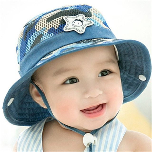 Soft Cotton Summer Baby Sun Hat Infant Boys Girls Bucket Hat Denim Kids Cap