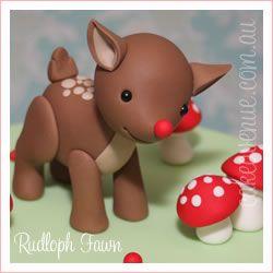 Rudolph pout mettre autour d'un boule de noel
