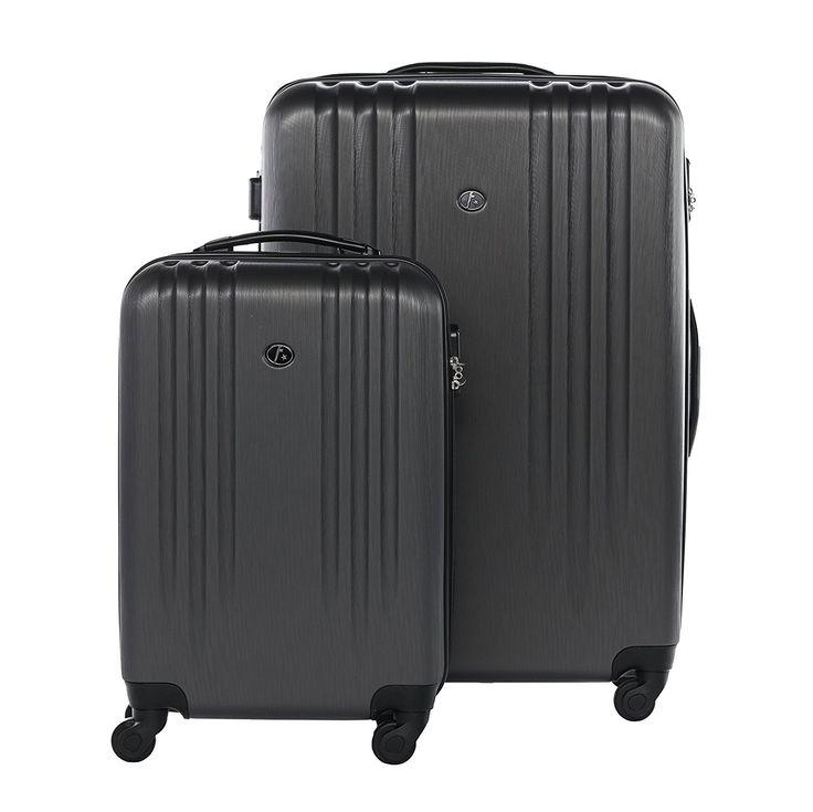 FERGÉ ensemble de valise (set de 3) Marseille - 3 pièces de bagages avec 4 roues 360° anthracite-métallique en ABS - (DURE-FLEX) rigide et léger: Amazon.fr: Bagages