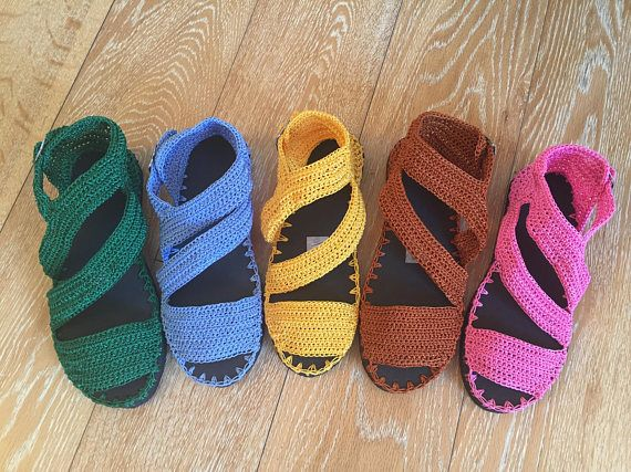 crochet sandals with rubber soles (affiliate link)