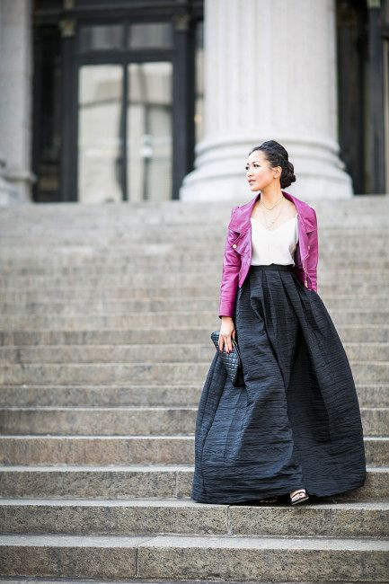 Almost Black and White :: Maxi skirt