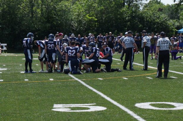 Oakville Titans Football Varsity Team vs Chatham-Kent Cougars