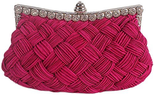 bettyhome Women s Clutch Weave Bag Knit Wedding Party Prom Handbag Cocktail Evening  Purse ae89cc26e9178