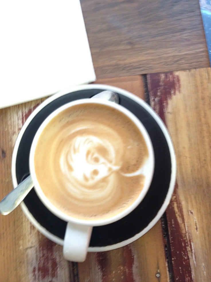 My coffee at Manchester Press