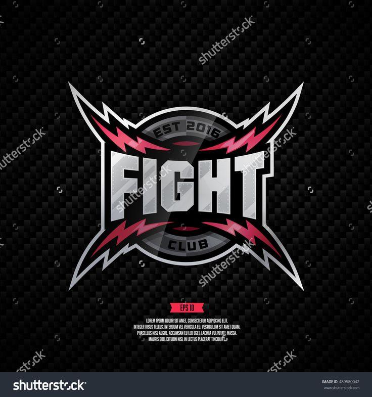 Modern professional fight club logo design.