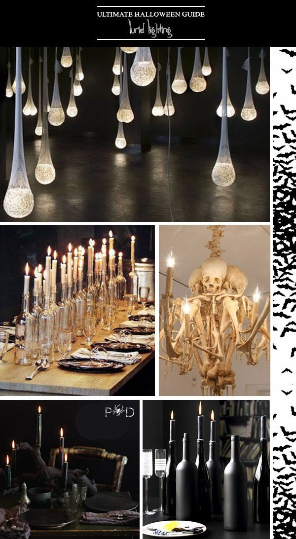 A round-up of the most chic and stylish Halloween Decor ideas to try at home, featuring ideas for entranceways, lighting and displays.