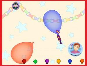 Balóny nafukujú predškolákov na interaktívnu tabuľu alebo počítačovej kleuteridee.nl
