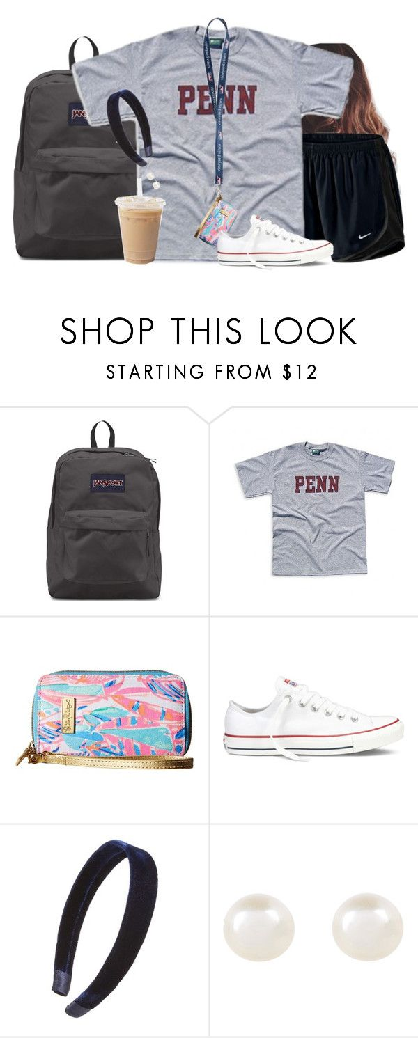 """""""Thursday's outfit"""" by aweaver-2 on Polyvore featuring JanSport, NIKE, Lilly Pulitzer, Converse, L. Erickson and Accessorize"""