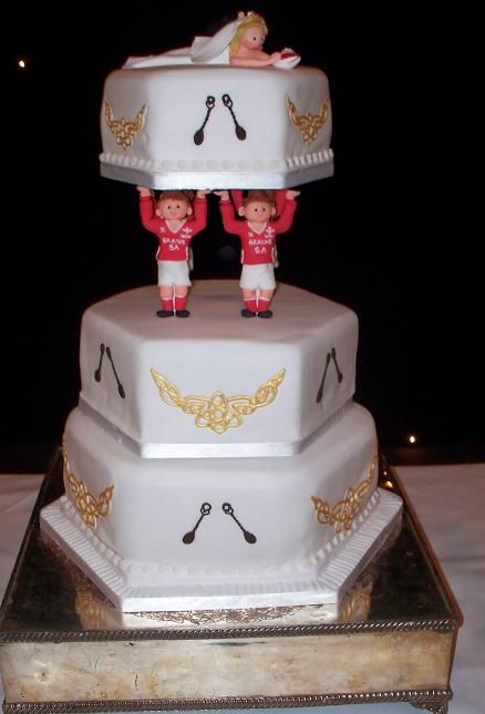 Welsh themed Wedding Cake