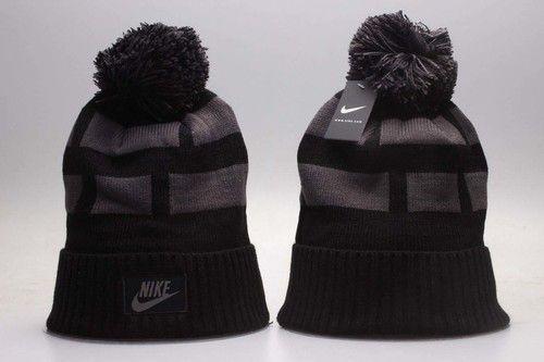 a25a6888a85 Nike Winter Outdoor Sports Warm Knit Beanie Hat Pom Pom