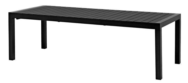 Bord BEJSTRUP 100x245/314cm alu/konstträ | JYSK