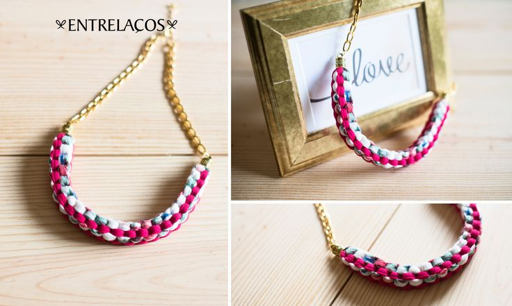 *Necklace *Handmade  https://www.facebook.com/entrelacoscolaresartesanais  https://www.etsy.com/pt/shop/Entrelacos?ref=hdr_shop_menu