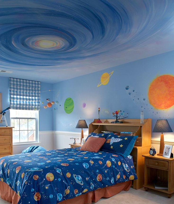 Cool Kids Room Ideas: Cool Bedroom #space Theme #cool Kids