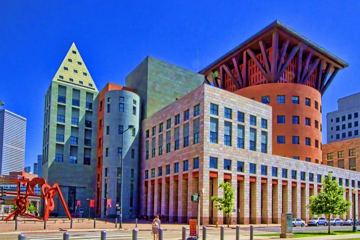 Denver Public Library, Michael Graves ** This is from the Michelin Group Board. The stars mean that it is worth seeing.