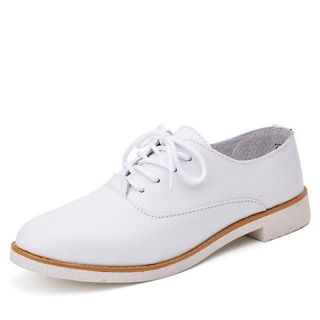 STQ 2017 oxford women flats genuine leather casual boat white shoes ladies lace up ballerina flats oxfords ballet flats 221