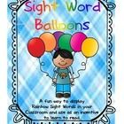 Rainbow Sight Word Balloons | Words, Parent letters and Letters