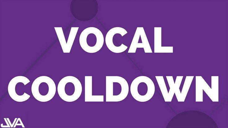 Vocal Cooldown Exercise #4 https://youtu.be/70ZTAQsTDN4