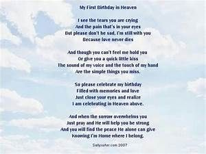 birthday poem from heaven | messages from heaven ...