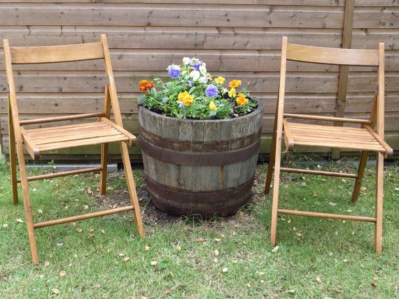 Vintage 2 x Wooden Folding Garden Chairs Good Condition   Two lovely wooden folding garden occasional chairs.  They pre owned and are in good…