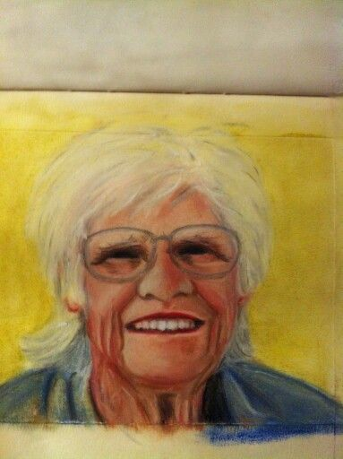 My beautiful Mam.  Polychromo pencil drawing
