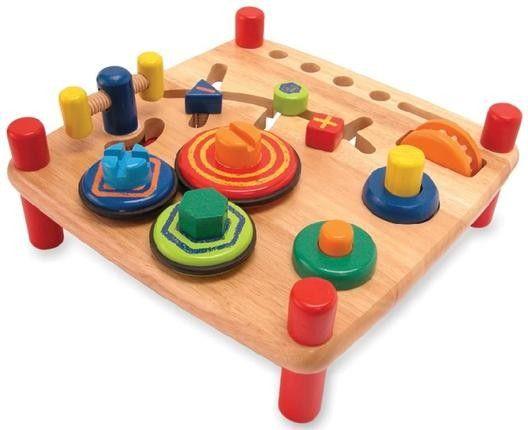 Unser Exklusives Lernspielzeug für Kinder ab 19 Monaten. Mit fünf spannenden Werkzeugen: Hammer, Säge, Schraubenschlüssel, Kreuz- und Schraubendreher. Genau das richtige für kleine Baumeister.