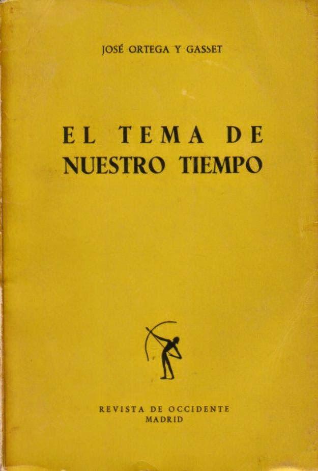 Ortega y Gasset, José (1883-1955) El tema de nuestro tiempo / José Ortega y Gasset 2ª ed. Madrid : Revista de Occidente, 1928 http://absysnet.bbtk.ull.es/cgi-bin/abnetopac?TITN=348973
