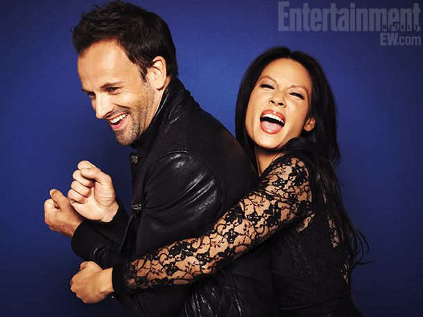 Johnny Lee Miller & Lucy Liu. LOVE these two together. #elementary