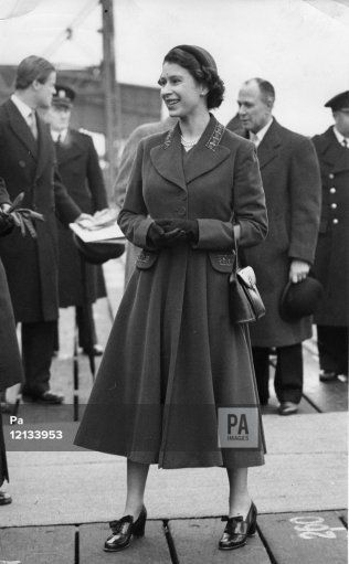 Queen Elizabeth II in Tilbury, Essex, during her tour of the flooded areas of Essex.